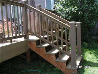 A Customer Asked Us To Install Handrails On Their Composite Deck Steps To  Improve Safety.